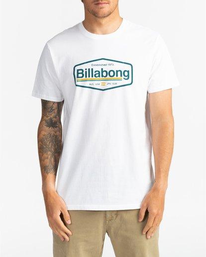 2 Montana - Camiseta para Hombre Blanco U1SS69BIF0 Billabong