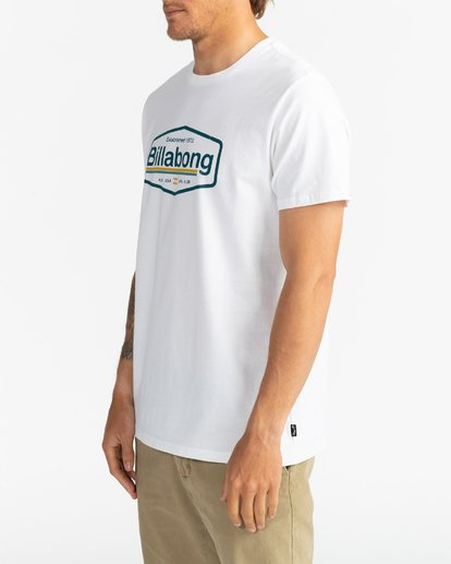 3 Montana - Camiseta para Hombre Blanco U1SS69BIF0 Billabong