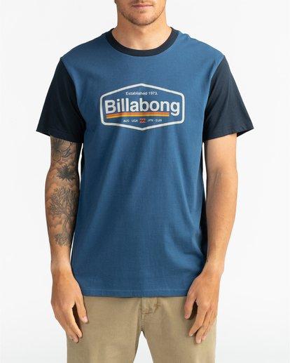 2 Montana - Camiseta para Hombre Azul U1SS69BIF0 Billabong