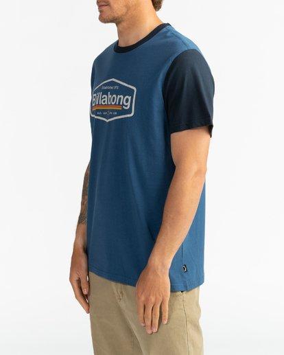3 Montana - Camiseta para Hombre Azul U1SS69BIF0 Billabong