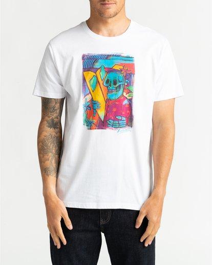 2 Cubes - Camiseta para Hombre Blanco U1SS72BIF0 Billabong