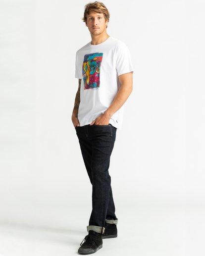 4 Cubes - Camiseta para Hombre Blanco U1SS72BIF0 Billabong