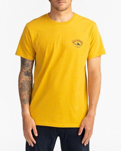 2 Arch Peak - Camiseta para Hombre Amarillo U1SS74BIF0 Billabong