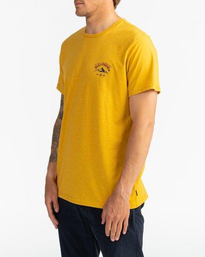 3 Arch Peak - Camiseta para Hombre Amarillo U1SS74BIF0 Billabong
