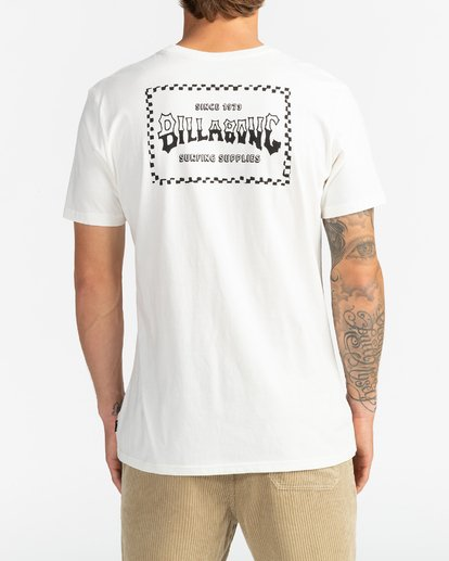 5 Supply Wave - Camiseta para Hombre Blanco U1SS77BIF0 Billabong