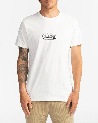 2 Supply Wave - Camiseta para Hombre Blanco U1SS77BIF0 Billabong