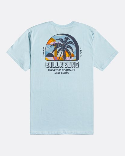 4 Palmas - T-Shirt for Men Blue U1SS78BIF0 Billabong