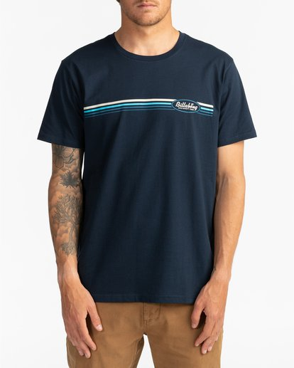 2 Cruiser Stripe - T-Shirt für Männer Blau U1SS79BIF0 Billabong