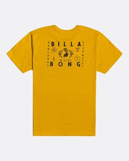 4 Peligrosa - Maglietta da Uomo Yellow U1SS84BIF0 Billabong