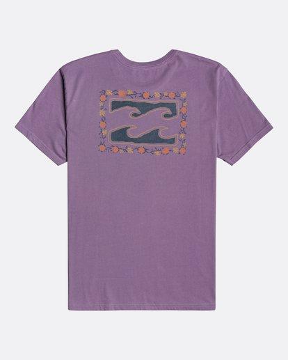 4 Crayon Wave - T-Shirt for Men Purple U1SS86BIF0 Billabong