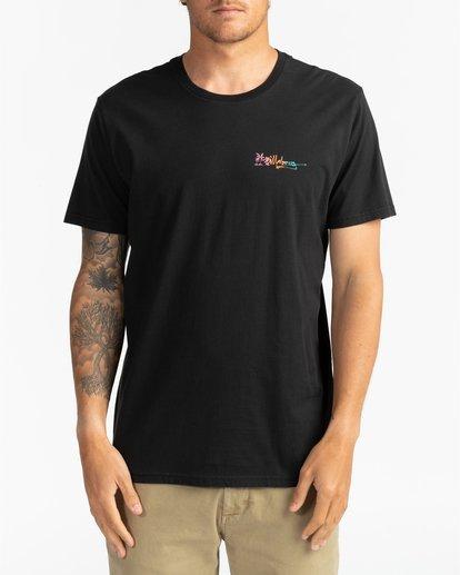 0 Crayon Wave - T-Shirt for Men Black U1SS86BIF0 Billabong