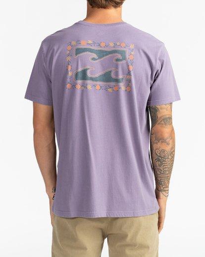 1 Crayon Wave - T-Shirt for Men Purple U1SS86BIF0 Billabong
