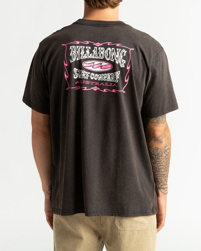 5 Aussie Surf Co - Camiseta para Hombre Negro U1SS89BIF0 Billabong