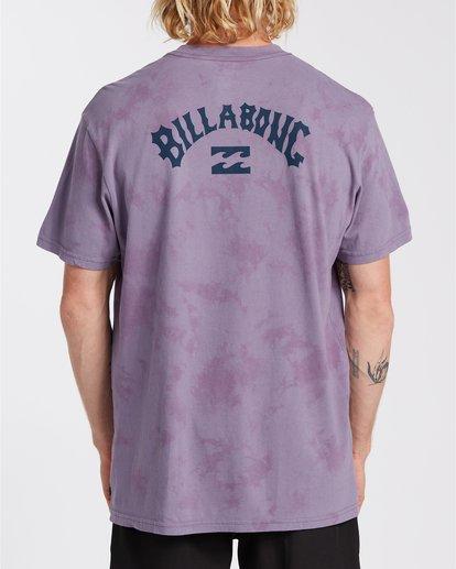 2 Arch Wave Tie Dye - Maglietta da Uomo Purple U1SS90BIF0 Billabong