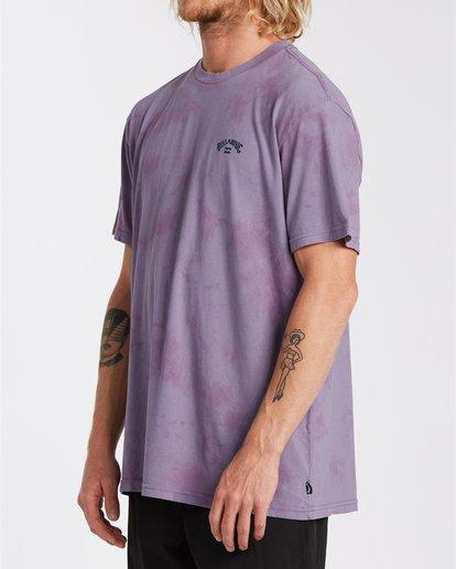 1 Arch Wave Tie Dye - Maglietta da Uomo Purple U1SS90BIF0 Billabong