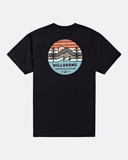1 Adventure Division Collection Twin Pines - Camiseta para Hombre Negro U1SS95BIF0 Billabong