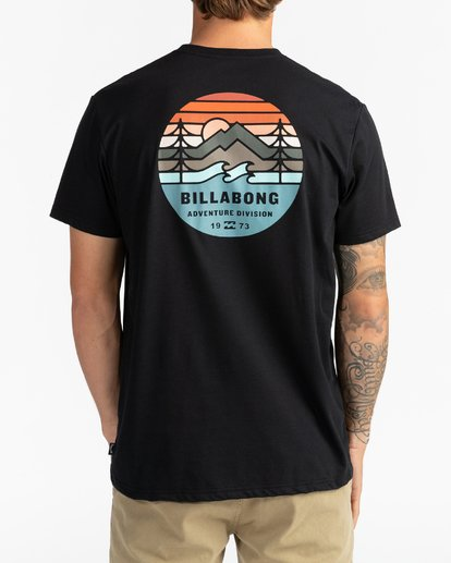 5 Adventure Division Collection Twin Pines - Camiseta para Hombre Negro U1SS95BIF0 Billabong