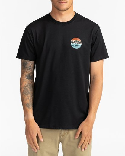 2 Adventure Division Collection Twin Pines - Camiseta para Hombre Negro U1SS95BIF0 Billabong