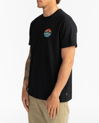 3 Adventure Division Collection Twin Pines - Camiseta para Hombre Negro U1SS95BIF0 Billabong