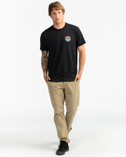 4 Adventure Division Collection Twin Pines - Camiseta para Hombre Negro U1SS95BIF0 Billabong