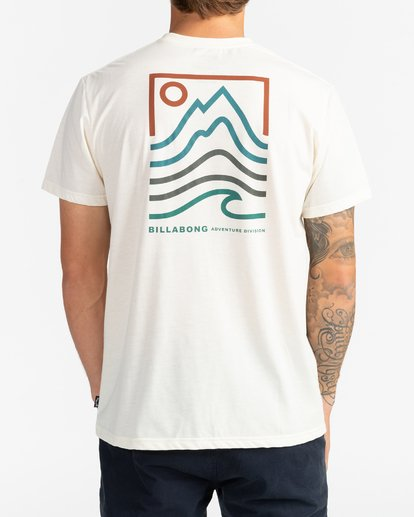 3 Adventure Division Collection Peak - T-Shirt für Männer Weiss U1SS96BIF0 Billabong