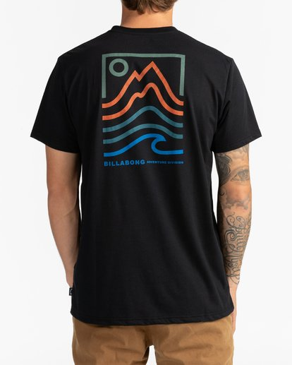 3 Adventure Division Collection Peak - T-Shirt für Männer Schwarz U1SS96BIF0 Billabong