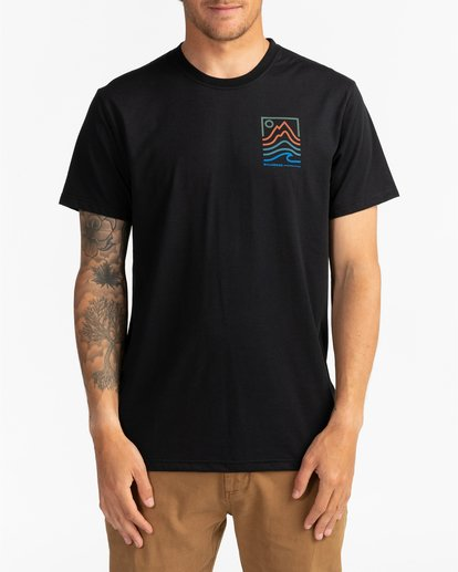 0 Adventure Division Collection Peak - T-Shirt für Männer Schwarz U1SS96BIF0 Billabong