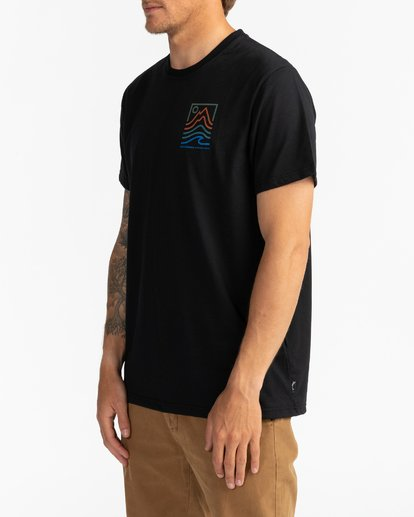 1 Adventure Division Collection Peak - T-Shirt für Männer Schwarz U1SS96BIF0 Billabong