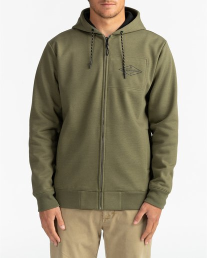3 Adventure Division Collection Alpine - Sudadera con capucha y cremallera para Hombre  U1ZH02BIF0 Billabong