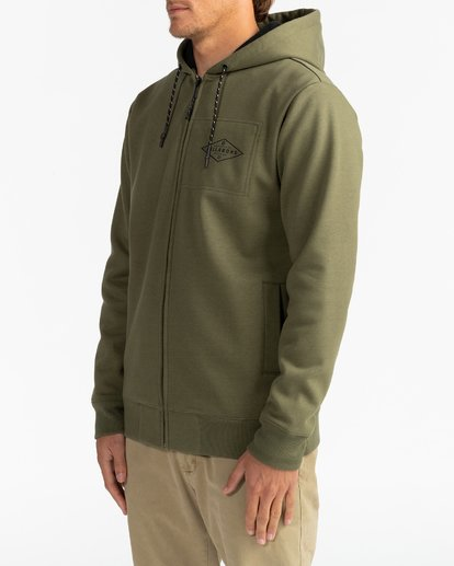4 Adventure Division Collection Alpine - Sudadera con capucha y cremallera para Hombre  U1ZH02BIF0 Billabong