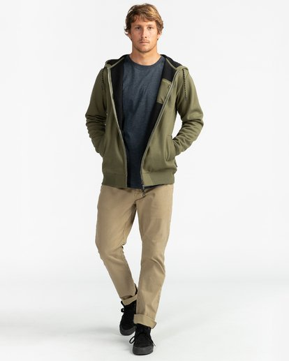 9 Adventure Division Collection Alpine - Sudadera con capucha y cremallera para Hombre  U1ZH02BIF0 Billabong