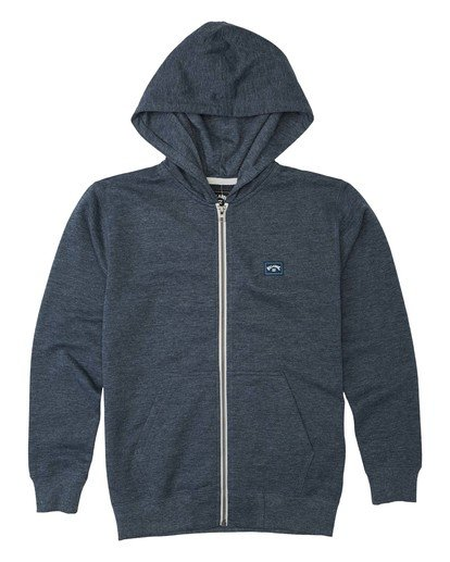 0 All Day Zip - Sudadera con capucha para Chicos Azul U2FL10BIF0 Billabong