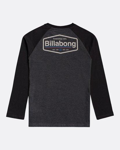 1 Montana - Camiseta de manga larga para Chicos Negro U2LS03BIF0 Billabong