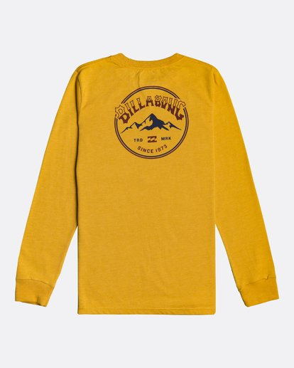 1 Arch Peak - Long Sleeve T-Shirt for Boys Yellow U2LS04BIF0 Billabong