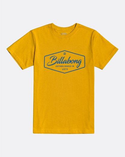 0 Trademark - Camiseta para Chicos Amarillo U2SS04BIF0 Billabong