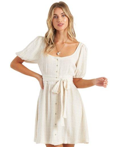 4 Sundown - Mini vestido de manga corta para Mujer Blanco U3DR01BIMU Billabong