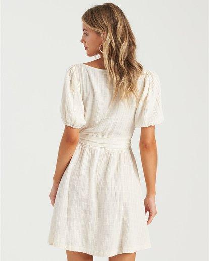 1 Sundown - Mini vestido de manga corta para Mujer Blanco U3DR01BIMU Billabong