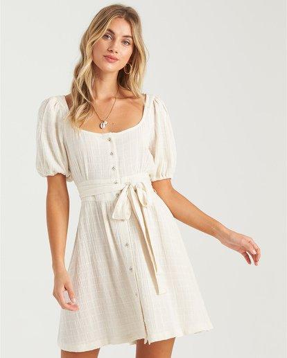 0 Sundown - Mini vestido de manga corta para Mujer Blanco U3DR01BIMU Billabong