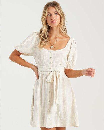 2 Sundown - Mini vestido de manga corta para Mujer Blanco U3DR01BIMU Billabong