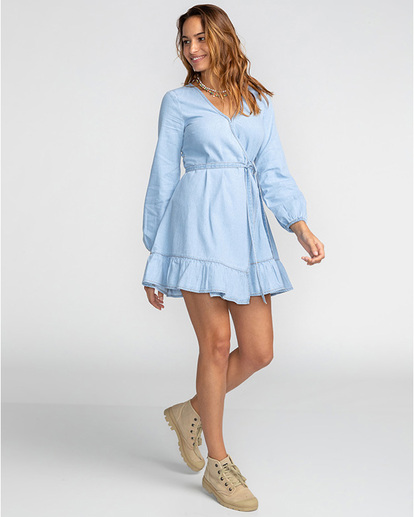 3 Good Feeling - Vestido para Mujer Azul U3DR09BIF0 Billabong