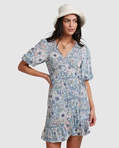 2 Dream Daze Wrap Dress  - Midi Wrap Dress for Women Azul U3DR50BIMU Billabong