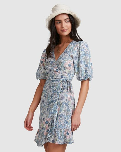 5 Dream Daze Wrap Dress  - Midi Wrap Dress for Women Azul U3DR50BIMU Billabong