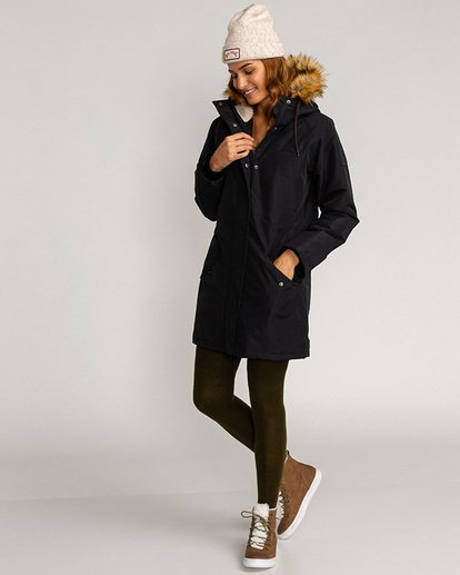 2 Adventure Division Collection Colder Weather - Chaqueta impermeable 10K para Mujer Negro U3JK12BIF0 Billabong