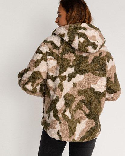 2 Adventure Division Collection Hiking Lover - Sherpa-Jacke für Frauen Grün U3JK16BIF0 Billabong