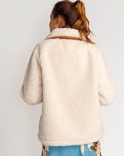 4 Great Escape - Schafsfelljacke für Frauen Weiss U3JK23BIF0 Billabong