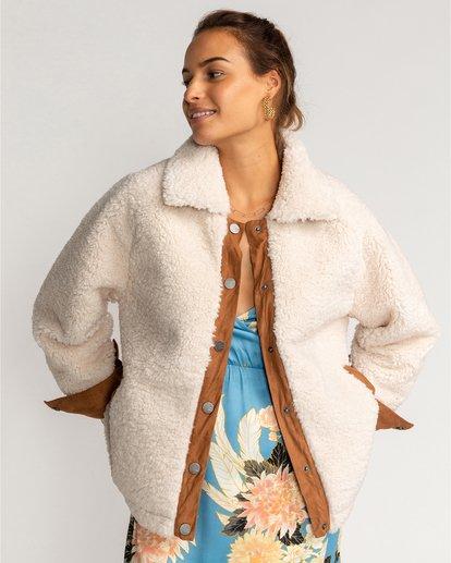 2 Great Escape - Chaqueta de vellón para Mujer Blanco U3JK23BIF0 Billabong