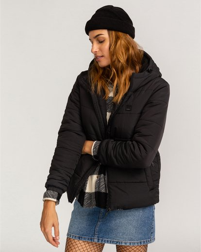 0 Adventure Division Collection Transport Puffer 2 - Chaqueta Acolchada para Mujer Negro U3JK24BIF0 Billabong