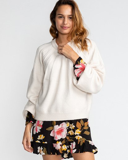 1 Wild Spaces - Jersey para Mujer Blanco U3JP17BIF0 Billabong