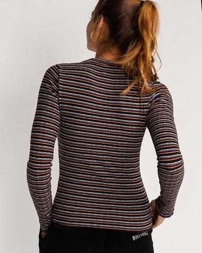 1 Seventies Stripes - Top mit hohem Kragen für Frauen Mehrfarbig U3KT03BIF0 Billabong