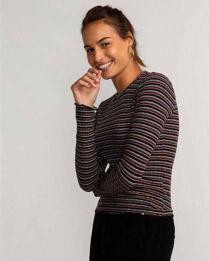 0 Seventies Stripes - Top mit hohem Kragen für Frauen Mehrfarbig U3KT03BIF0 Billabong
